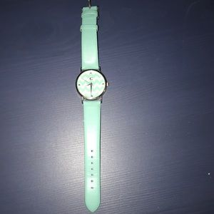 Teal patterned watch